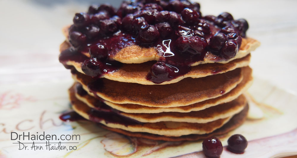 Dr Haiden Gluten Free Paleo Pancakes with Berries