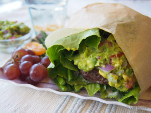 Avocado Salad Burger Recipe